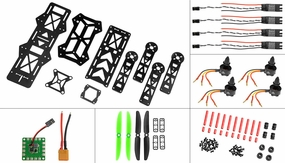 AeroSky RC Drone Racing 280mm Superlight Composite KIT combo RC Remote Control Radio Quadcopter