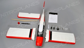 AeroSky Robin HR100 4 Channel KIT Trainer  Wingspan 1250mm RC Plane (Red)