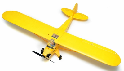 Airfield 1400mm Electric Brushless 4-CH Super J3  Remote Control RC Plane Kit (Yellow)