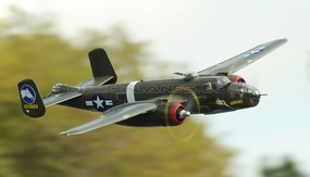 Airfield 1470mm 5 Channel B-25 Bomber Twin Brushless Power Extreme Detail RC Radio Control WarBird Airplane RTF w/ Electric Retract
