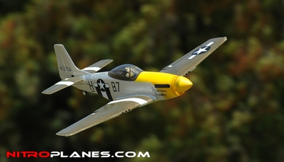 "Airfield 2.4Ghz Electric P-51 Mustang 800mm 31.5"" RTF (Yellow)"