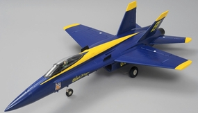Airfield 4 Channel RC F/A 18 Blue Angel 64mm EDF Almost Ready to Fly Jet 686mm Wingspan (Blue) RC Remote Control Radio