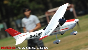 "Airfield 4Ch 55"" Sky Trainer RC Airplane ARF Almost Ready to Fly w/ Brushless Motor/ & ESC (Red) RC Remote Control Radio"