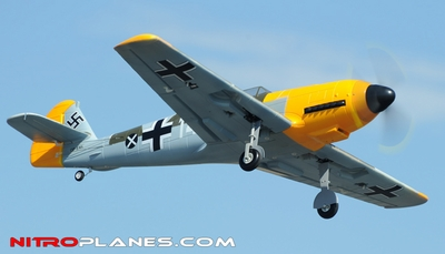 Airfield 5Ch 2.4Ghz BF-109 Messerschmitt 1400mm Warbird RC Plane w/Electric Retracts RTF (Camo) RC Remote Control Radio