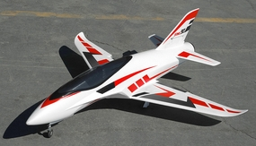 Airfield 6 Channel  Sonic Piercer 90mm EDF Jet Plane Ready to Fly  1171mm Wing Span (Red)