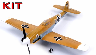 "AirField 800mm (31.5"") BF-109 Messerschmitt RC War Plane Airframe Kit RC Remote Control Radio"