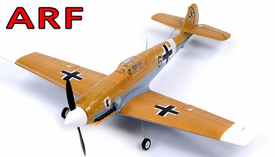 "AirField 800mm (31.5"") Electric BF-109 Messerschmitt RC Warbird Plane w/ Brushless+ESC ARF Receiver-Ready RC Remote Control Radio 93A220-800BF109-ARF"