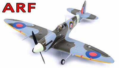 "AirField 800mm (31.5"") Electric Spitfire ARF Receiver-Ready w/ Brushless Motor+ESC"