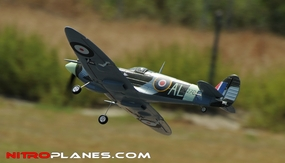 "AirField 800mm (31.5"") Electric Spitfire RC Warbird w/ 2.4Ghz+Brushless Motor/Lipo RTF RC Remote Control Radio"
