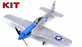 "AirField 800mm (31.5"") P51 Mustang RC Warbird Airframe Kit (Blue)"