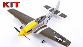 "AirField 800mm (31.5"") P51 Mustang RC Warbird Airframe Kit (Yellow)"