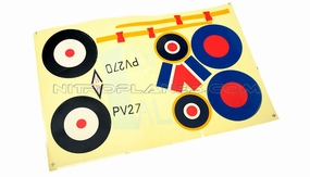 AirField 800mm Spitfire Sticker (Camo) 93A235-15-Camo-Sticker