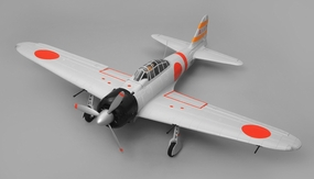 Airfield A6M Zero Almost Ready to Fly 6 Channel Warbird RC Plane 1450 Wingspan (Grey)