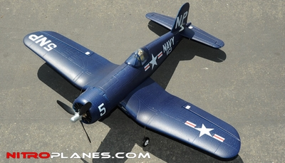 "Airfield Extreme Detail 4-Channel Remote F4U Corsair 800mm (31.5"") Remote Control Airplane ARF Receiver-Ready Blue RC Remote Control Radio"