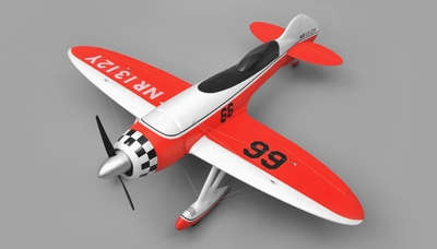 Airfield GeeBee Aerobatic 4 Channel Kit RC Plane Wingspan 1200mm (Red) RC Remote Control Radio