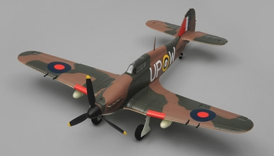 Airfield Hurricane 4 Channel RC Warbird Airplane Almost Ready to Fly ARF Wingspan 750mm