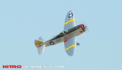 Airfield P-47 750mm RC Warbirds Airframe Kit (Silver) RC Remote Control Radio