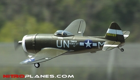 Airfield P-47 750mm RC Warbirds ARF Receiver-Ready w/ Brushless Motor+ESC (Green)