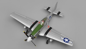 Airfield P51 4 Channel Warbird Ready to Fly 2.4Ghz 800mm Wingspan (Green) RC Remote Control Radio