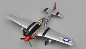 Airfield P51 RC 4 Channel Warbird KIT 800mm Wingspan (Silver) RC Remote Control Radio