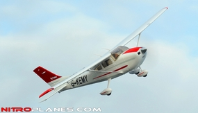 "AirField RC 55"" Sky Trainer Upgrade Version Airplane w/Flaps/LED Lights Airframe KIT Version *Super Scale/Detail* EPO Foam Plane (Red)"