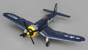 Airfield RC F4U Corsair 1450mm Warbird Airplane Ready to Fly 2.4ghz 1450mm Wingspan(Blue) RC Remote Control Radio