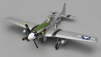 Airfield RC P51 Warbird Airplane 6 Channel Almost Ready to Fly  1450mm Wingspan (Green)