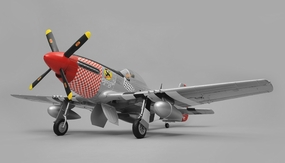 Airfield RC P51 Warbird Airplane 6 Channel Kit Version 1450mm Wingspan (Red) RC Remote Control Radio