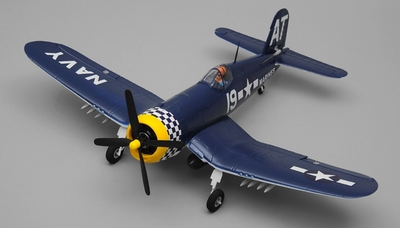 Airfield RC Plane 4 Channel F4U Corsair 800mm Almost Ready to Fly  (Blue) RC Remote Control Radio