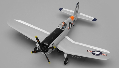 Airfield RC 4-Channel F4U Corsair 800mm Ready to Fly 2.4ghz RC Warbird(Grey) RC Remote Control Radio