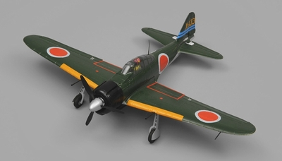 Airfield RC Plane 4 Channel Zero 800mm Almost Ready to Fly (Green)