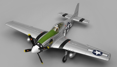 Airfield RC Plane  6 Channel P51 Mustang Warbird 1150mm Wingspan Almost Ready to Fly (Green)
