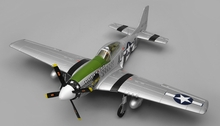 Airfield RC Plane  6 Channel P51 Mustang Warbird 1150mm Wingspan Ready to Fly 2.4ghz (Green)
