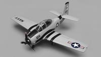 Airfield RC Plane  6 Channel T28 Trojan 1450MM 6 Channel Warbird Ready to Fly 2.4Ghz (Grey)