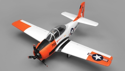 Airfield RC Plane  6 Channel T28 Trojan 1450MM 6 Channel Warbird Ready to Fly 2.4Ghz (Red) RC Remote Control Radio