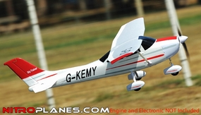 AirField RC Sky Trainer 4-CH RC Airplane *Super Scale* EPO Foam (Red) Kit  1410mm Wingspan