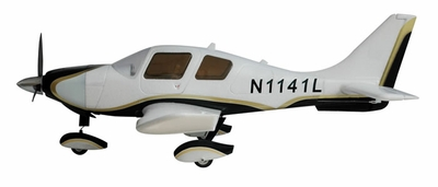 AirField RC Sky Trainer 400 RC Scale Plane Kit (Black)