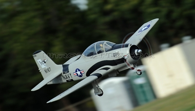AirField RC T28 1400mm Radio Control Warbird Plane  *Super Scale* EPO Foam Plane + Electric Retracts  (Grey) Kit Version
