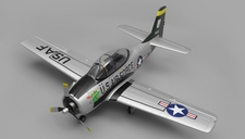 Airfield RC T28 Trojan 1450MM Wingspan 6 Channel Warbird Airplane Kit (Silver)