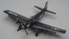 Airfield Skyraider A1 4 Channel RC Warbird Airplane Kit 800mm Wingspan (Blue)