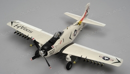Airfield Skyraider A1 4 Channel RC Warbird Airplane Kit 800mm Wingspan (Whte)