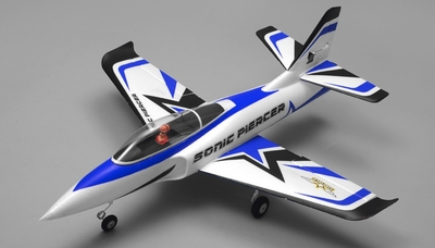 Airfield Sonic Piercer 64mm EDF Jet Almost Ready to Fly RC 4 Channel 800mm Wingspan (Blue)