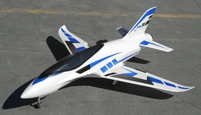 Airfield Sonic Piercer 90mm EDF Jet Plane Almost Ready to Fly  1171mm Wing Span (Blue) RC Remote Control Radio