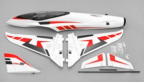 Airfield Sonic Piercer 90mm EDF Jet Plane Almost Ready to Fly  1171mm Wing Span (Red)