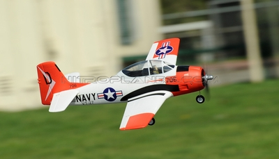 Airfield T-28 Trojan 800mm RC Warbirds Airframe KIT Version (Red) RC Remote Control Radio