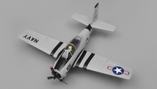 Airfield RC T28 Trojan Airplane w/ 2.4ghz 4 Channel Ready to Fly 2.4Ghz  800mm Wing Span (Grey)
