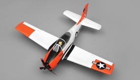 Airfield RC T28 Trojan Airplane w/ 2.4ghz 4 Channel Ready to Fly 2.4Ghz 800mm Wing Span Warbird (Red)
