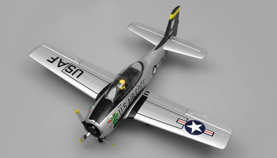 Airfield RC T28 Trojan 4 Channel Airplane Kit 800mm Wing Span (Silver)