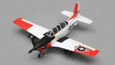Airfield T34 Mentor RC Plane 4 Channel Almost Ready to Fly ARF Wingspan 750mm (Red)