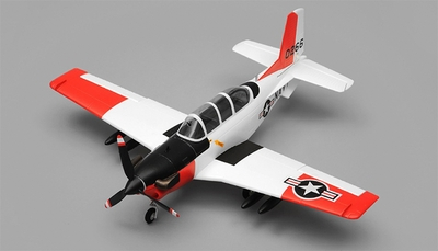 Airfield T34 Mentor RC Plane 4 Channel Kit Wingspan 750mm (Red) RC Remote Control Radio